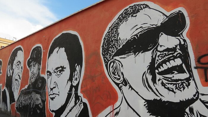 "Street Art Roma - J.B.Rock, ""Wall of Fame"", via dei Magazzini Generali"