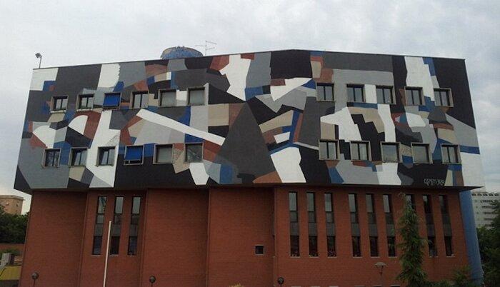 Street Art Roma - Clemence Behr, Edificio ATAC, Garbatella