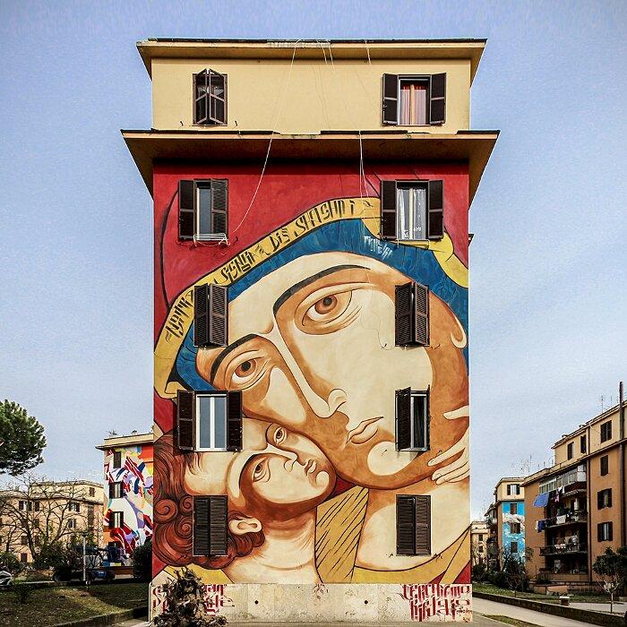 Street Art Roma - Mr Klevra, Nostra Signora di Shanghai, Tor Marancia