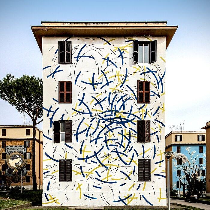 "Street Art Roma - Moneyless, ""Il Vento"", Tor Marancia"