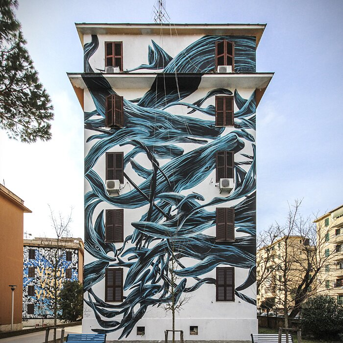 "Street Art Roma - Pantonio, ""Il Ponentino"", Tor Marancia"