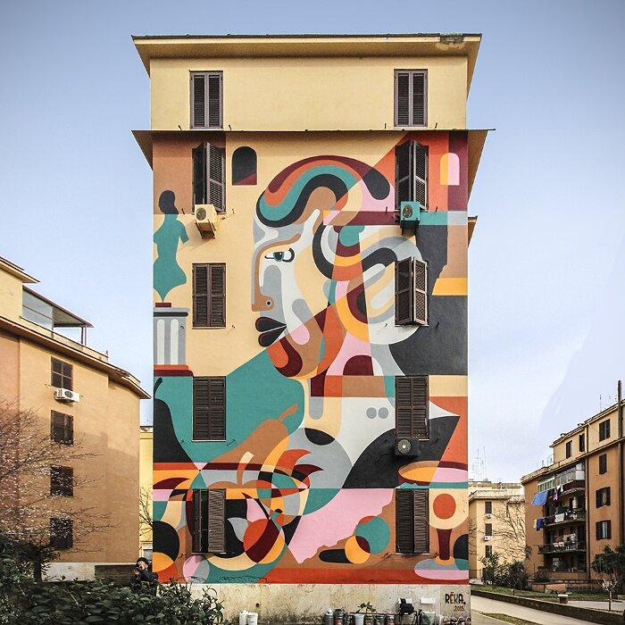 "Street Art Roma - Reka, ""Natura Morta"", Tor Marancia"