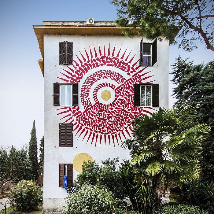 """Street Art Roma - Domenico Romeo, """"Alme Sol Invictus"""", Tor Marancia"""