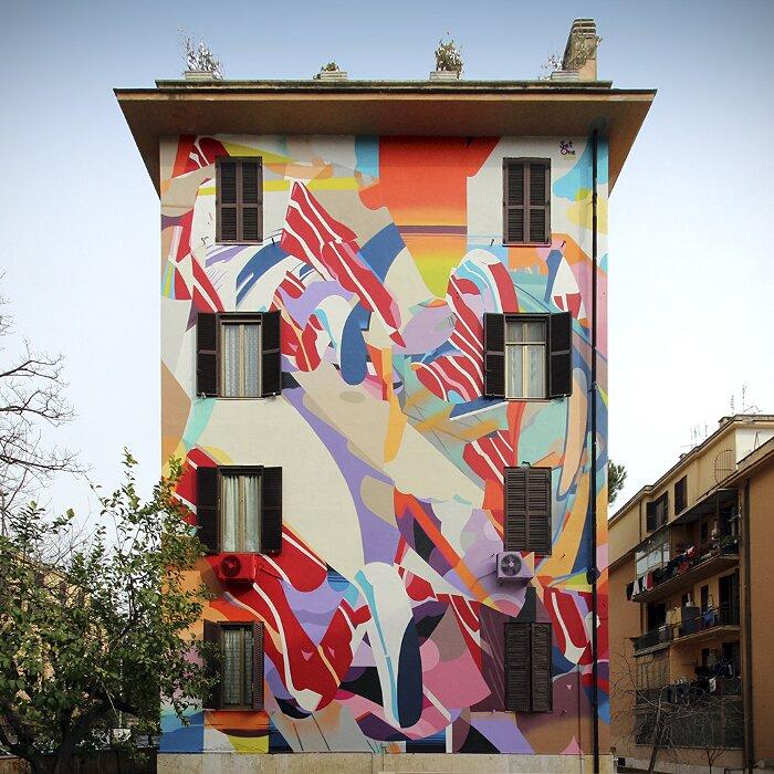 """Street Art Roma - Satone, """"Cascata di Parole"""", Tor Marancia"""