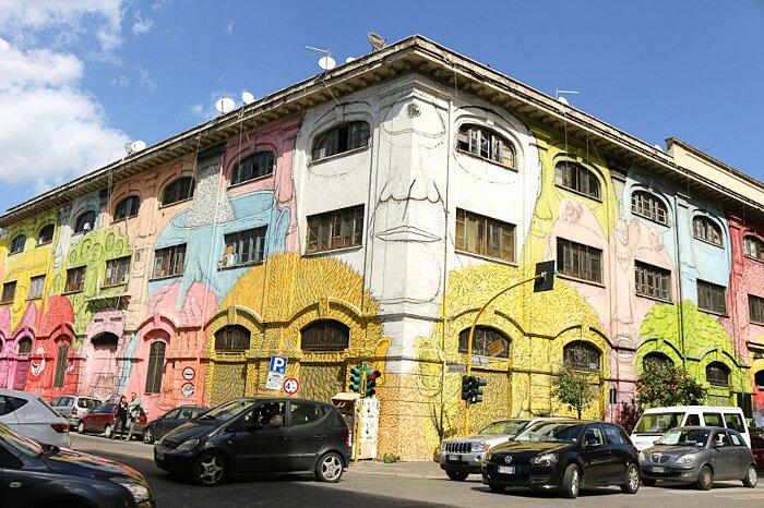 Street Art Roma - Blu, via delle Conce, via del Porto Fluviale