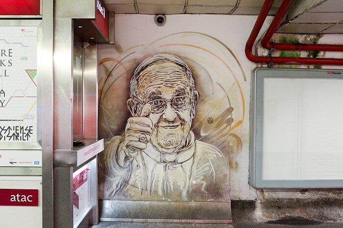 Street Art Roma - Metro A Spagna