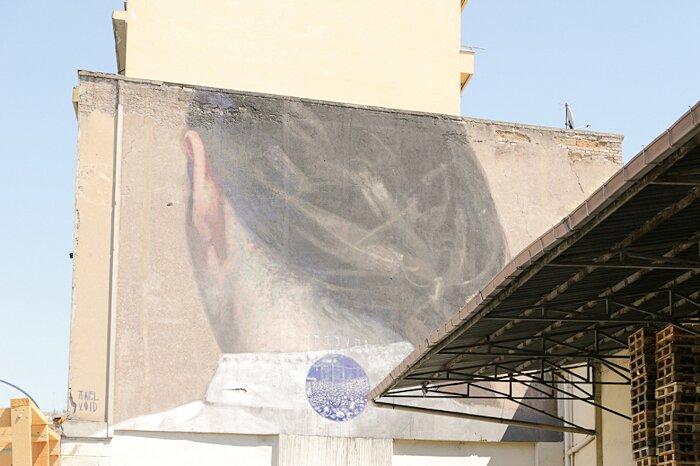 """Street Art Roma - Axel Void, """"Nessuno"""", via del Porto Fluviale"""