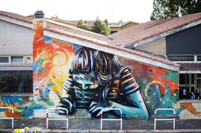 Street Art Roma - Alice Pasquini, Casal Bernocchi