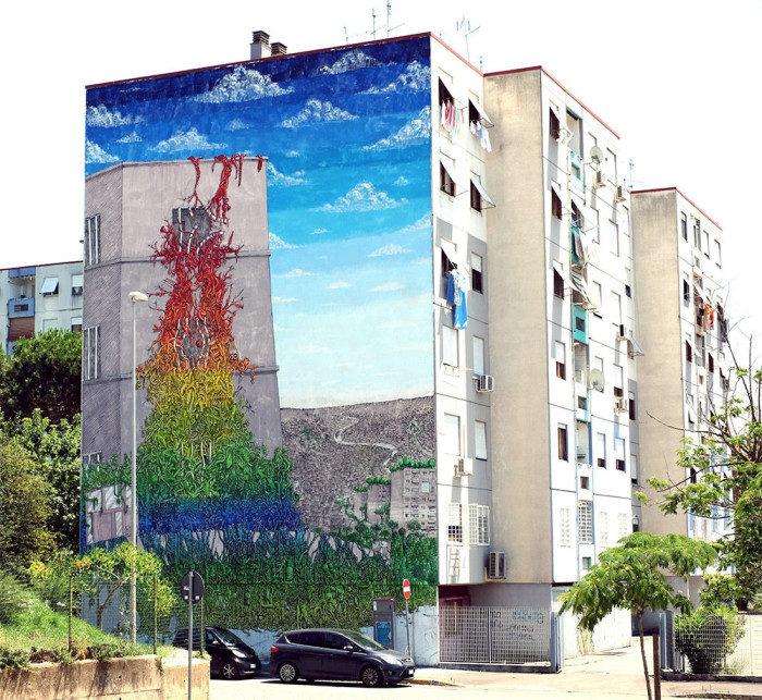 Street Art Roma - Blu, Rebibbia