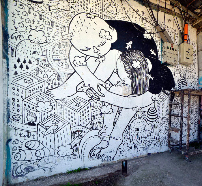 "Street Art Roma - Millo, ""Wired"", museo MAAM"