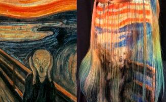 Dipinge i capelli come fossero una tela ispirandosi ad artisti famosi