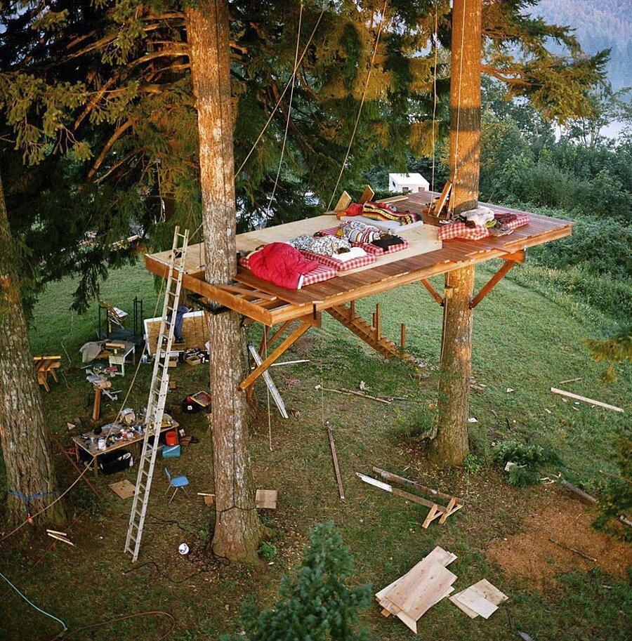 Fotografo costruisce una casa sull 39 albero di lusso per - Casa sull albero minecraft ...