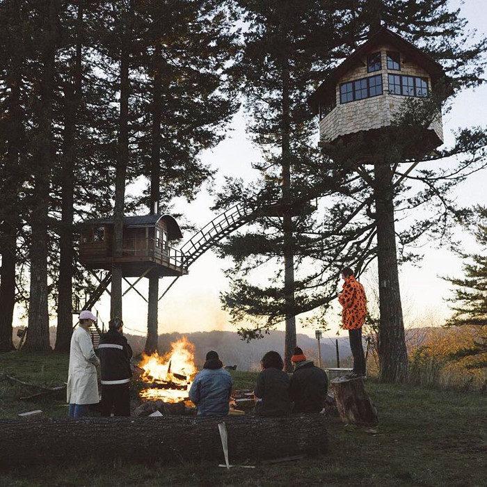 Fotografo costruisce una casa sull'albero di lusso per viverci tutto l'anno