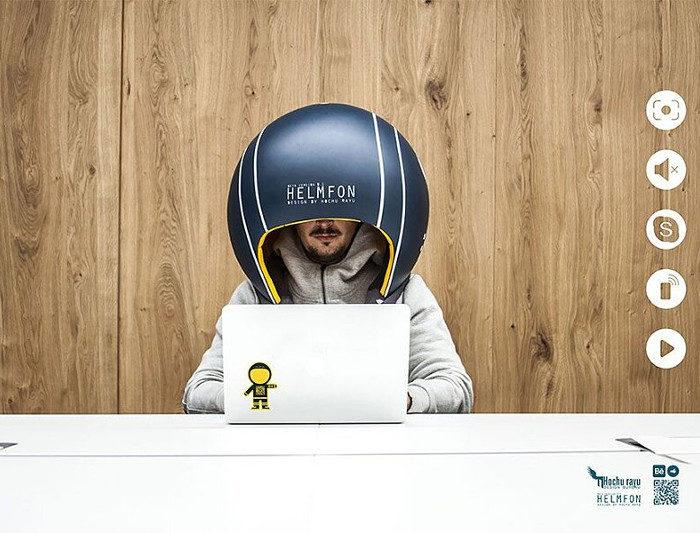 I rumori in ufficio vi distraggono? Problema risolto grazie ad un casco oversize!