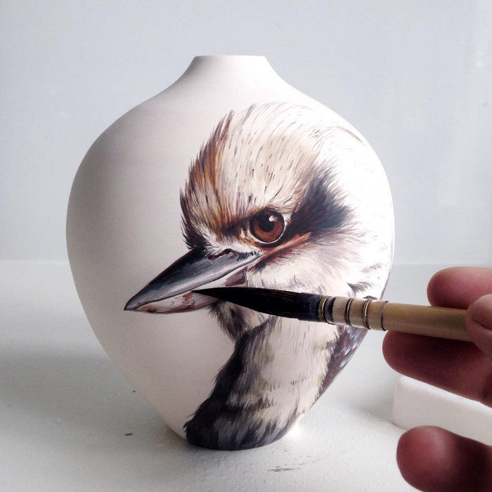 Ceramiche dipinte a mano ispirate alla natura
