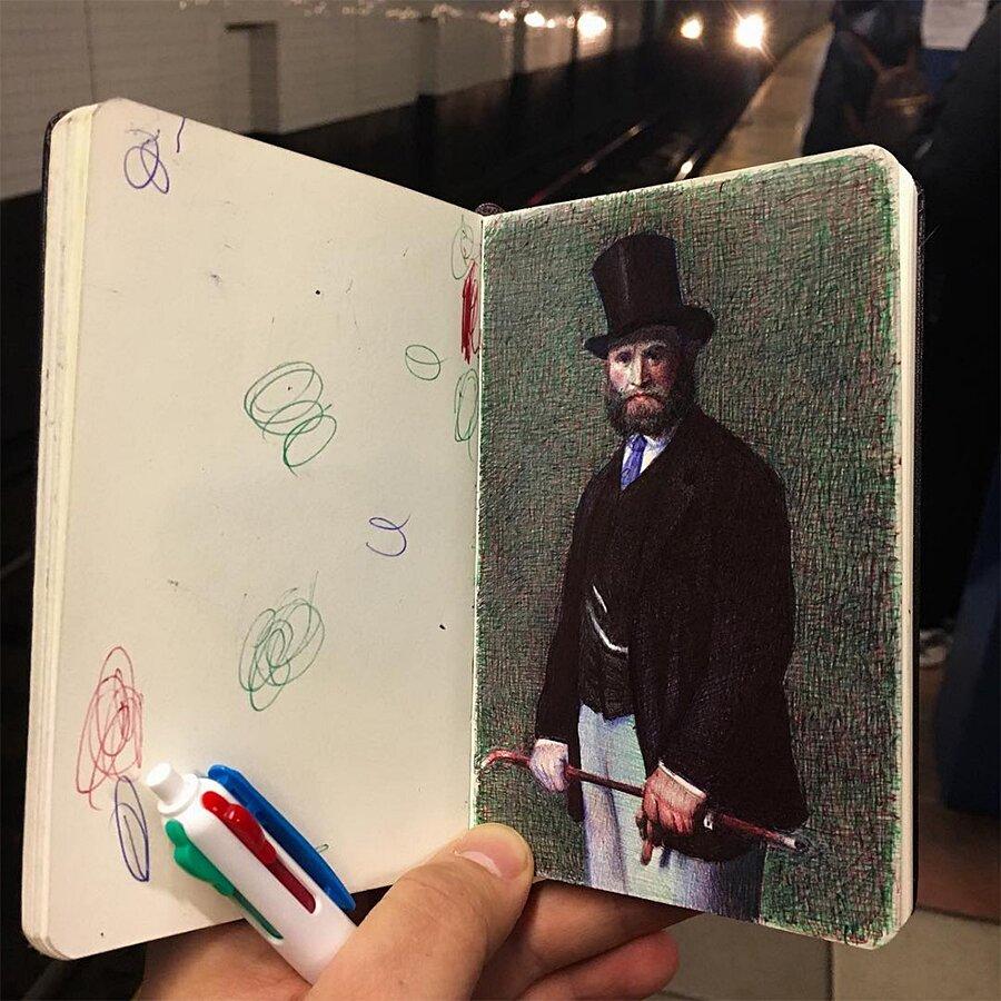 Disegni Penna a Sfera Schizzi Nicolas V. Sanchez
