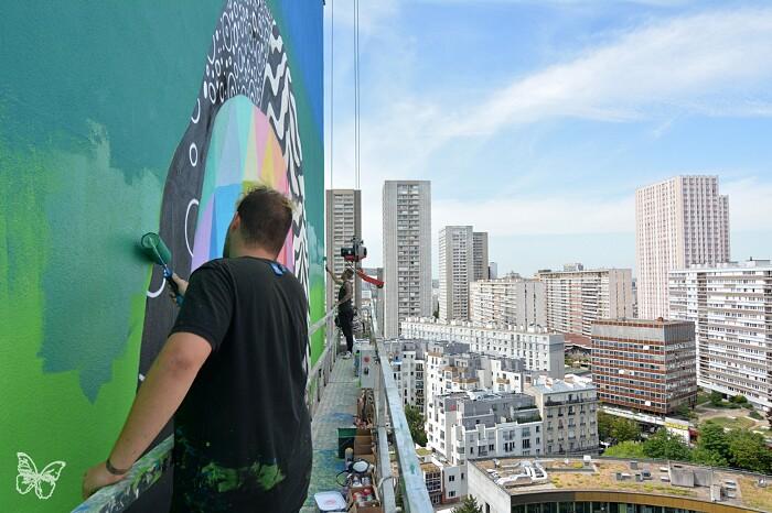 Murales La Gioconda Okuda San Miguel Parigi