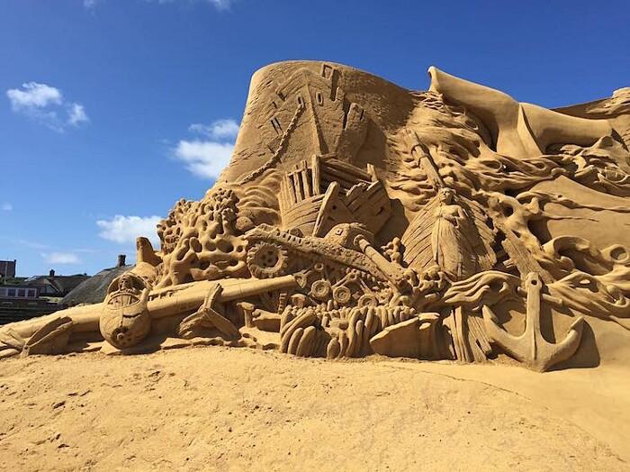 Sculture di Sabbia Tridimensionali Søndervig Sand Sculpture Festival