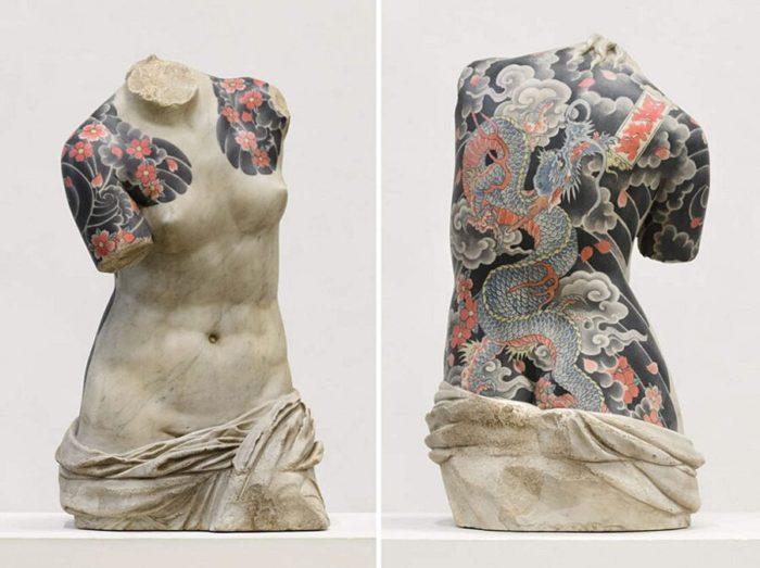 Statue Classiche Ricoperte di Tatuaggi Fabio Viale