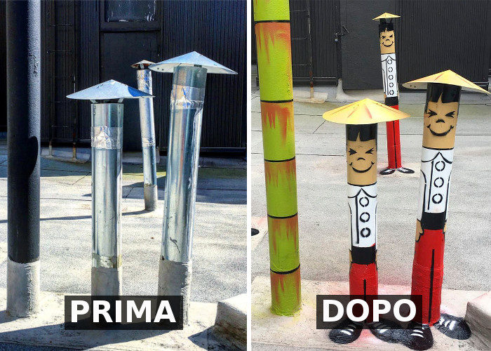 Le noiose vie di una città trasformate in divertenti opere di street art