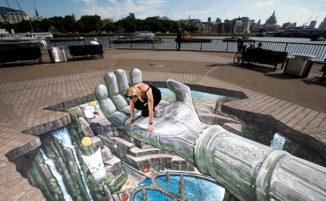 Incredibili opere tridimensionali di street art