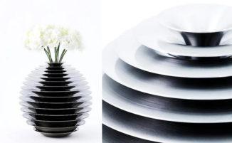 Vasi di fiori dal design creativo enfatizzano la bellezza del metallo