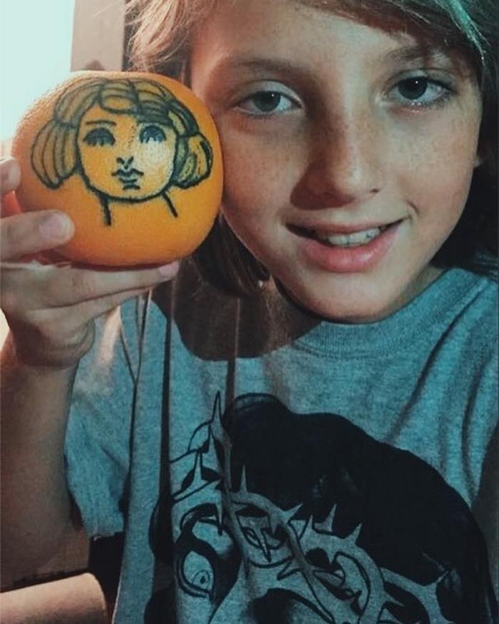 Bambino tatuatore 12 anni Ezrah Dormon