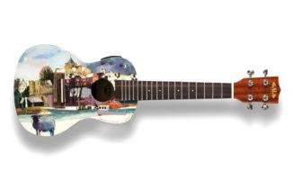 30 ukulele dipinti da artisti del Regno Unito all'asta per beneficenza
