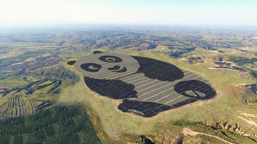 Pannelli Solari Panda Power Plant Datong Cina