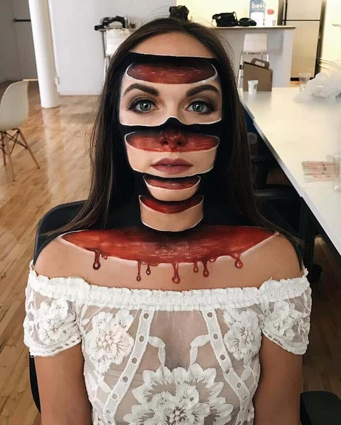 Esempi Make Up Artistico Illusioni Ottiche Mimi Choi