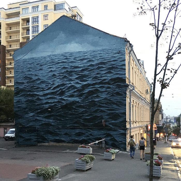 Ed un mare minaccioso apparve per le strade di Kiev