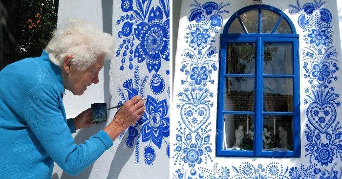 Questa signora ha 90 anni e nella vita fa la street artist