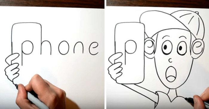 Artista trasforma semplici parole in divertenti fumetti