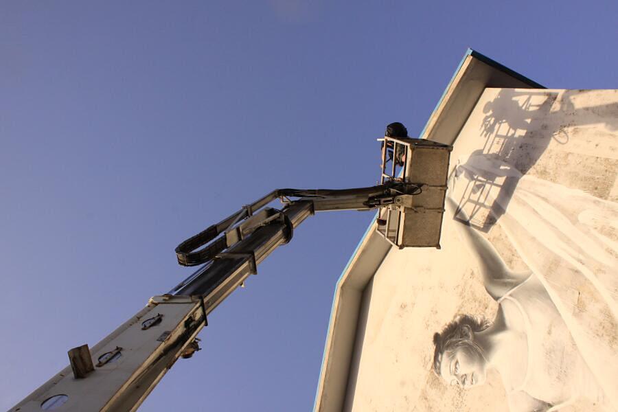 Murales Ariola Italia Sasha Korban Street Art