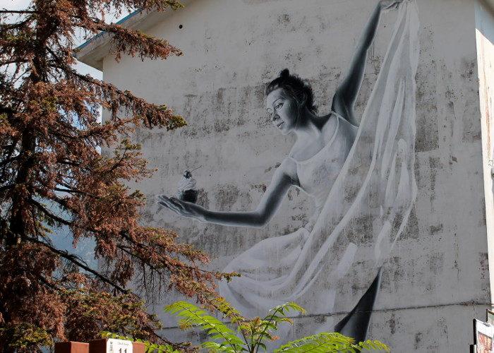 Equilibrio ed armonia in un bellissimo murale realizzato ad Ariola