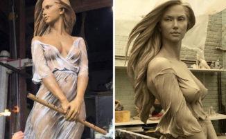 Sculture femminili rivelano la bellezza e la grazia dell'arte rinascimentale