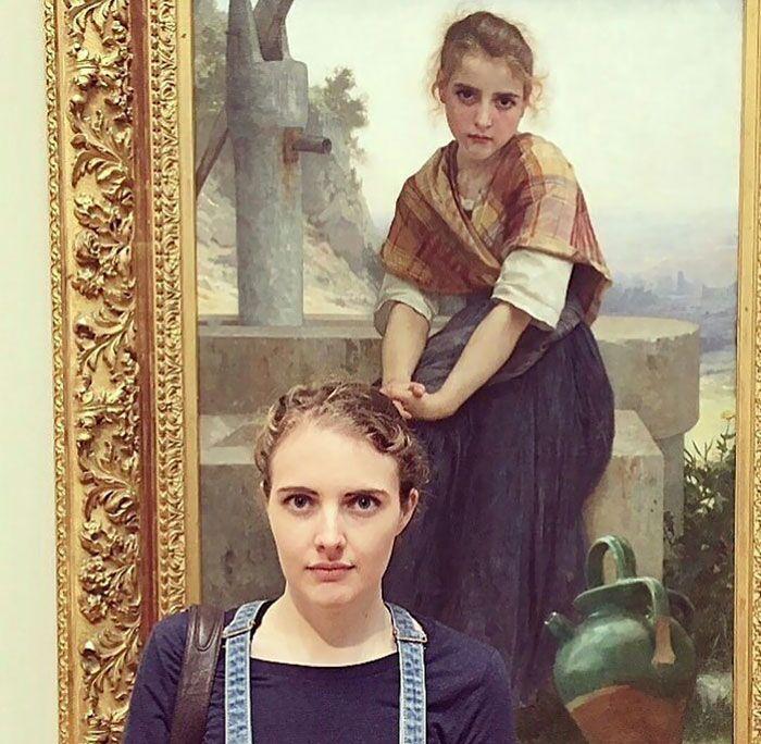 Persone Trovano Il Loro Sosia Al Museo