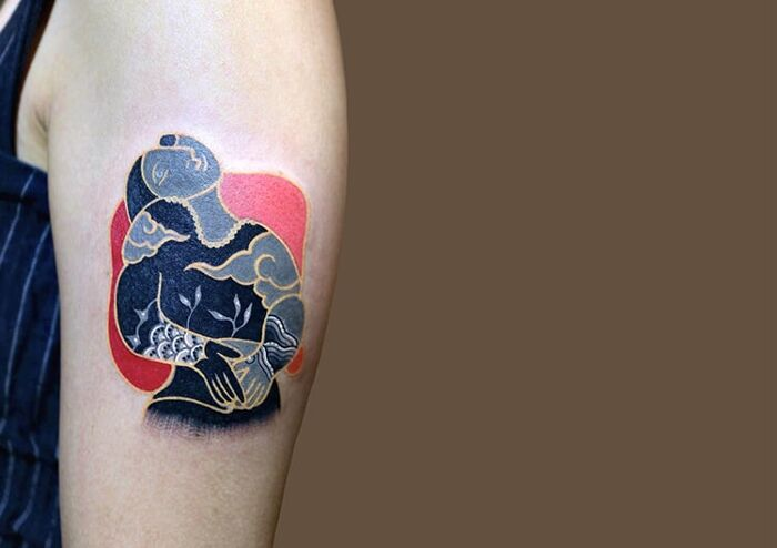 Tatuaggi Motivi Coreani Pitta KKM