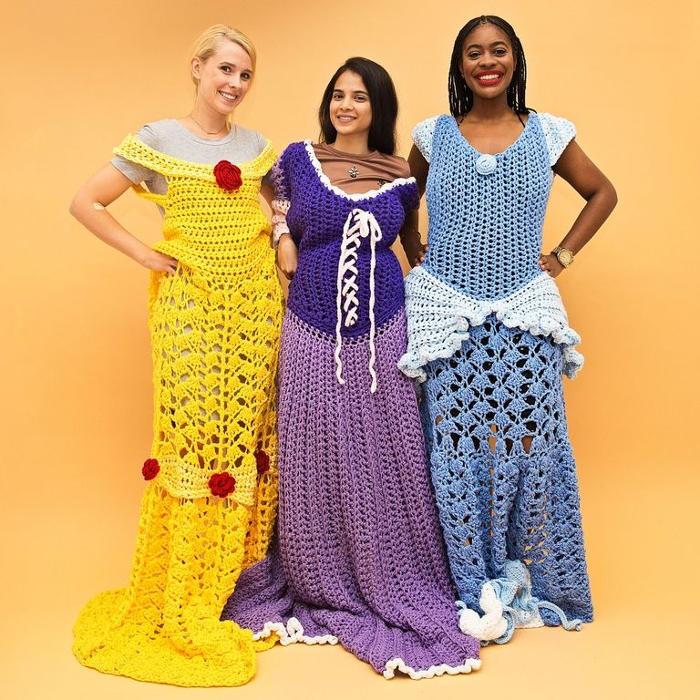 Vestiti Delle Principesse Disney Diventano Coperte All'Uncinetto