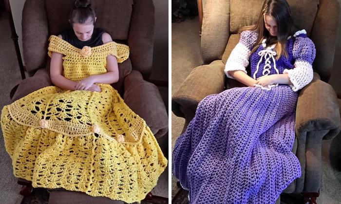 I vestiti delle princepesse diventano copertine, per sonnellini da favola