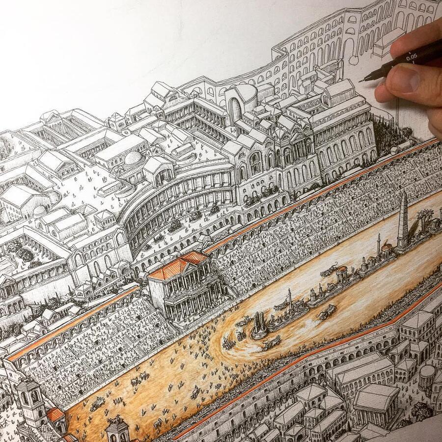 Disegni Architettonici A Penna Jeff Murray