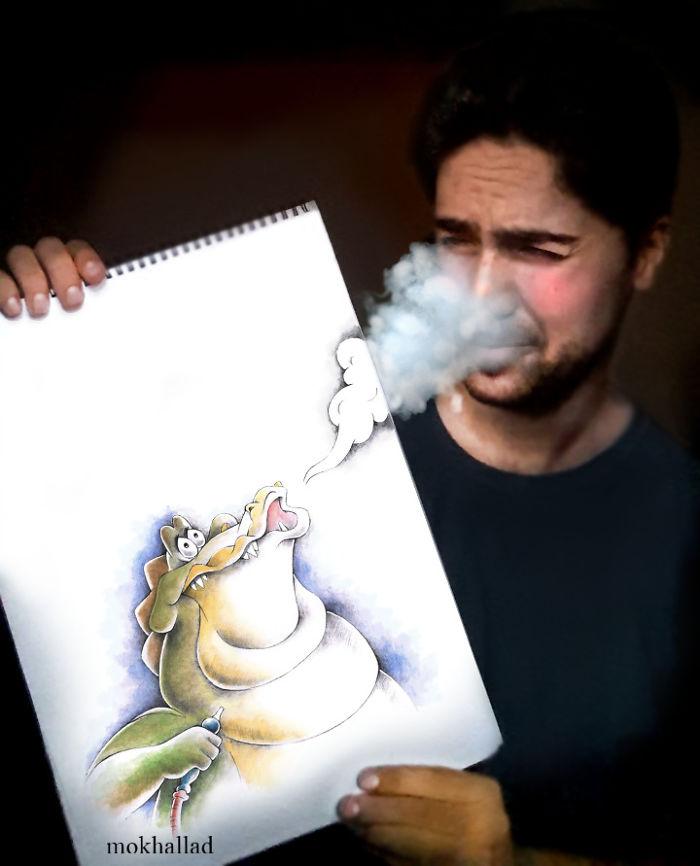 Disegni Con Oggetti Reali Surreali Divertenti Mokhallad Habib