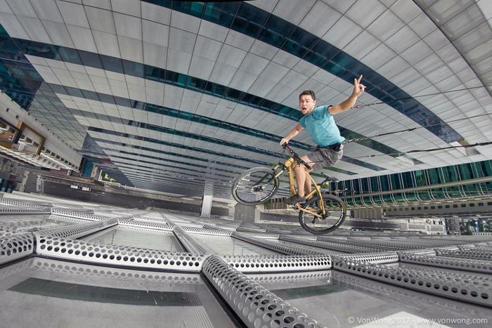 Fotografo celebra gli eroi di tutti i giorni con scatti che sfidano la gravità