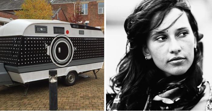 Fotografo trasforma una vecchia roulotte in una macchina fotografica gigante