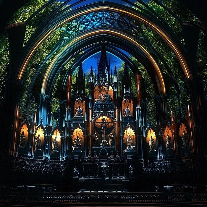 Aura-Installazione Multisensoriale Notre-Dame Montreal