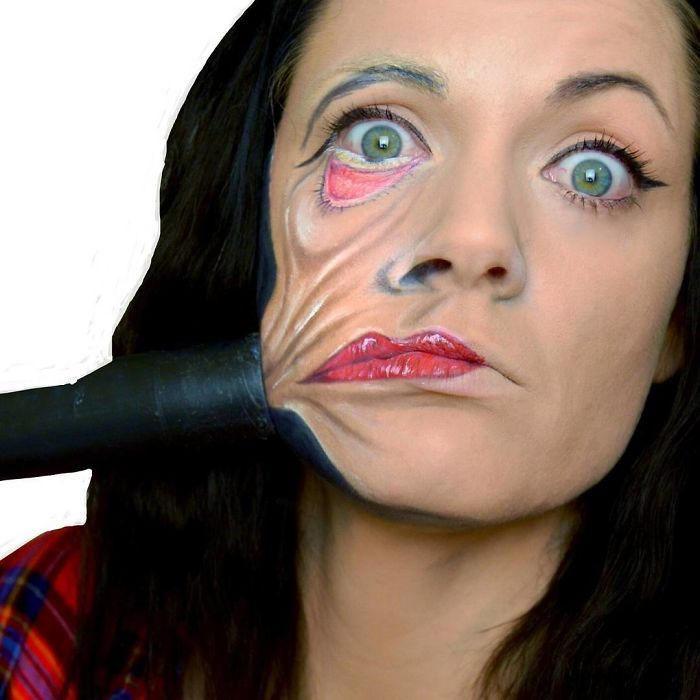 Make up artist trasforma se stessa in personaggi da incubo