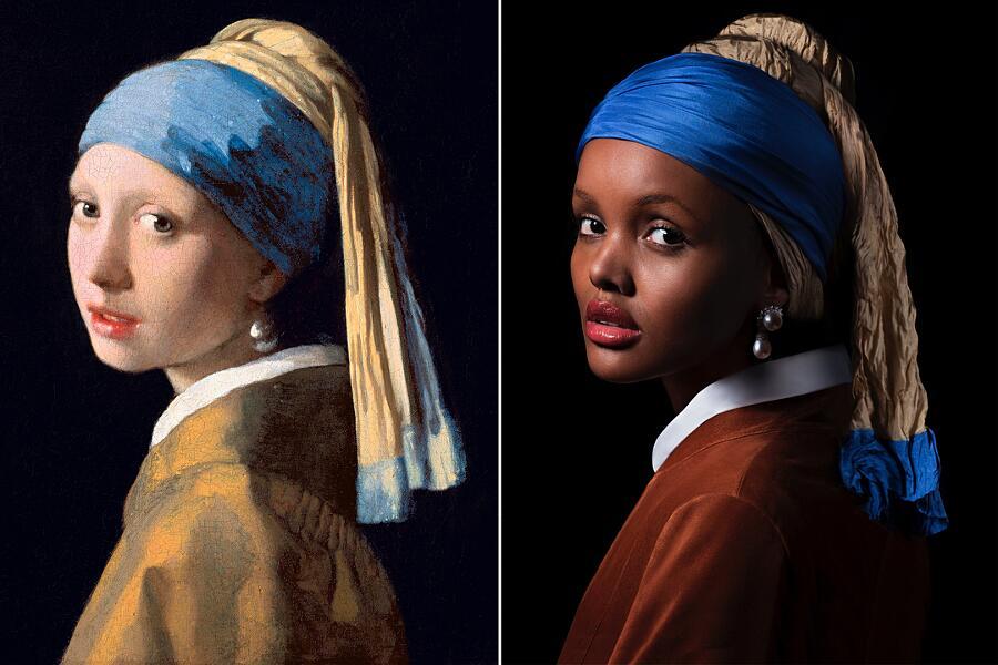 Modelle Reinterpretano Dipinti Famosi Harper's Bazaar