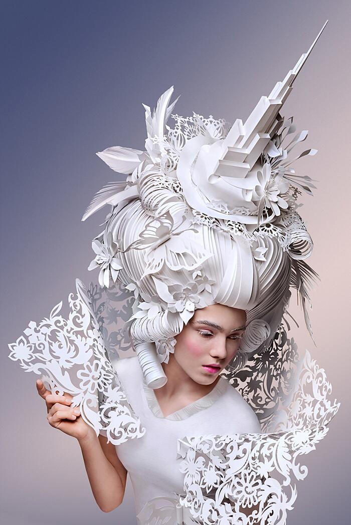 Parrucche Decorative Barocche Di Carta Asya Kozina