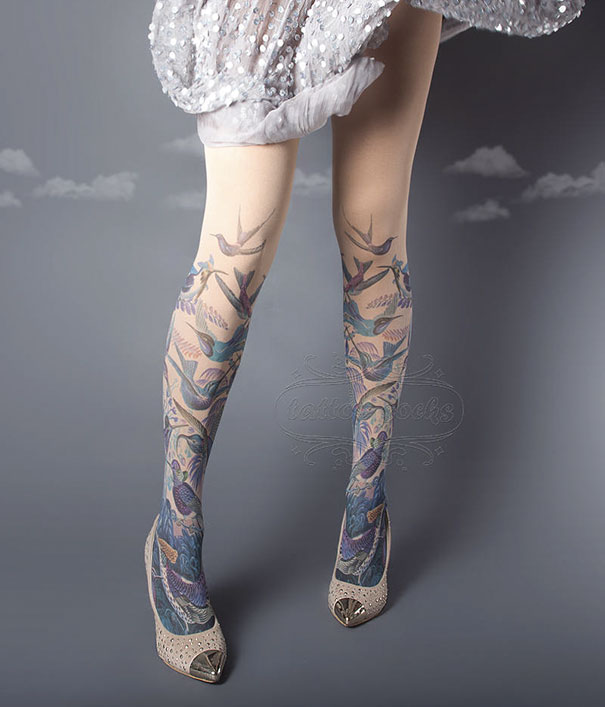 Calze Collant Sembrano Tatuaggi Tattoosocks