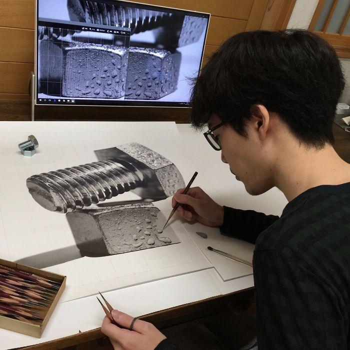Disegni A Matita Iperrealismo Kohei Ohmori